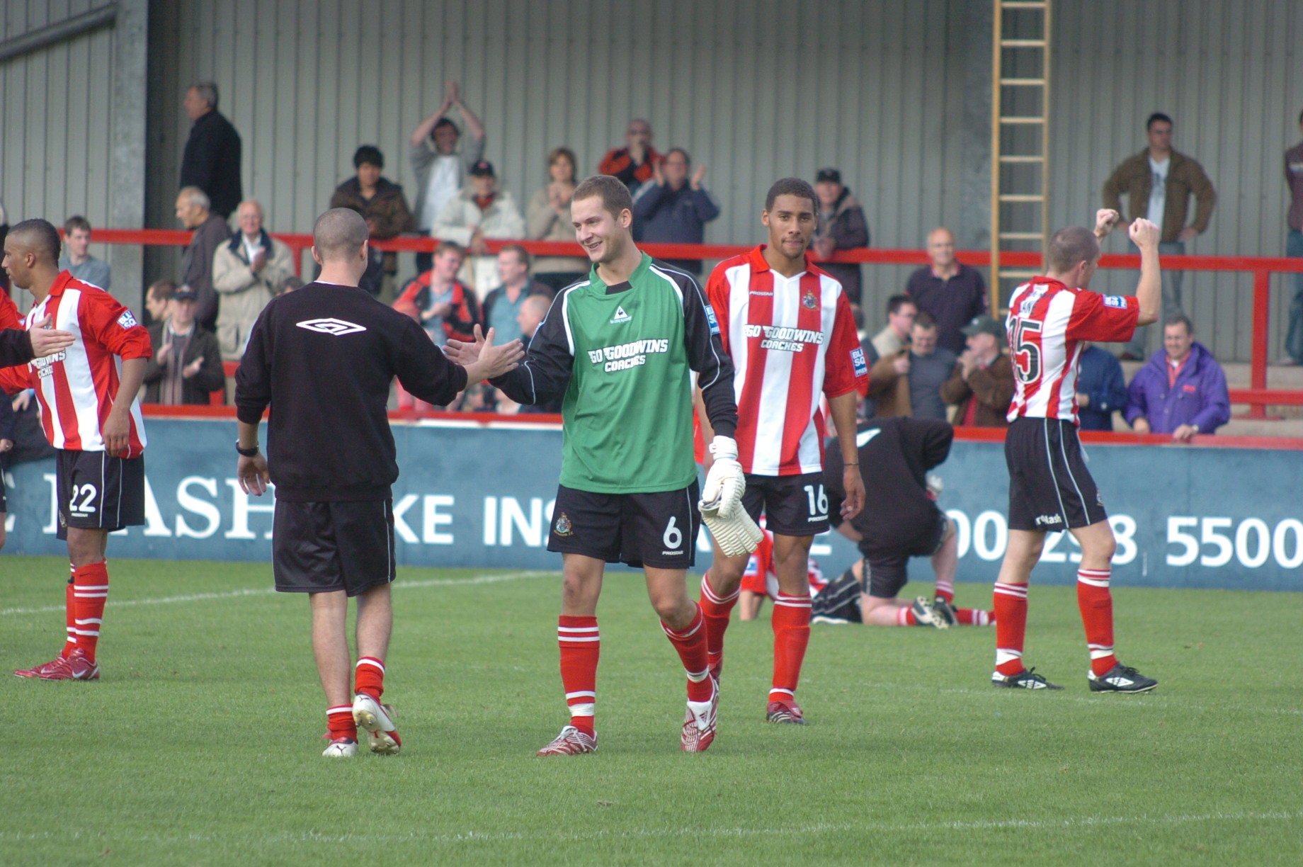 Shotton (right) has been an outstanding performer during his loan spell at Alty.