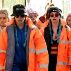 Messenger Newspapers: Here's Cara Delevingne and Suki Waterhouse attempting to blend in with the crowd at Glastonbury