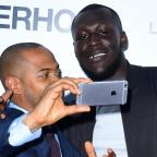 Messenger Newspapers: Stormzy and Noel Clarke grab a selfie at the world premiere of Brotherhood