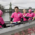 Messenger Newspapers: Ore Oduba, Harry Judd and Vernon Kay are making a splash in the first Celebrity Boat Race