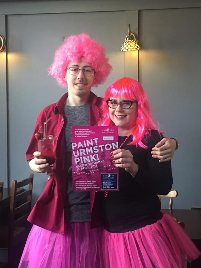Town shines bright for the Paint Urmston Pink event