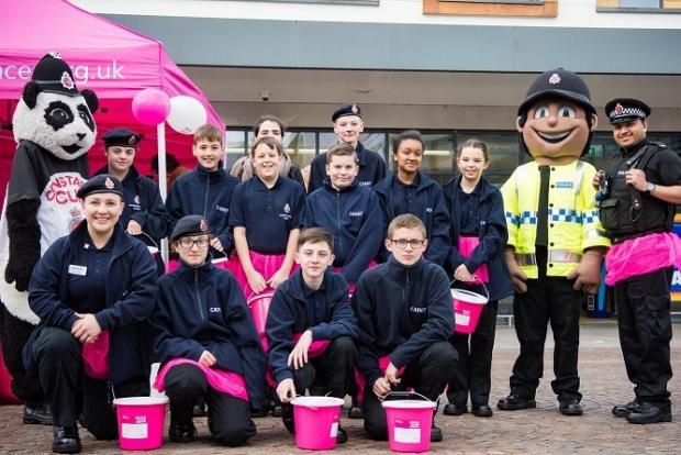 Messenger Newspapers: Cadets were out in force to help raise vital funds for Prevent Breast Cancer