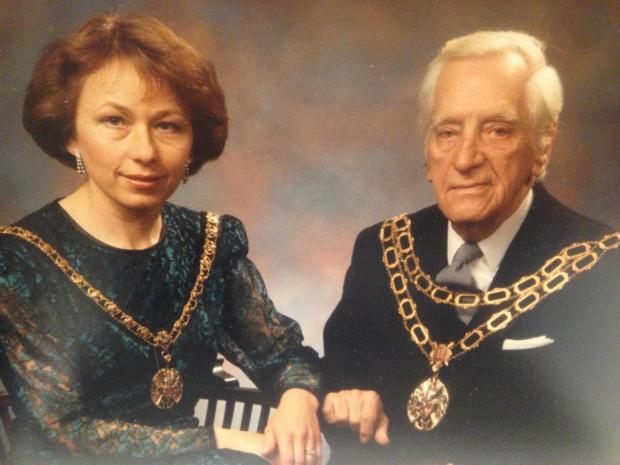 Messenger Newspapers: Councillor Allan Coupe with Jonathan's wife Diane as his mayoress