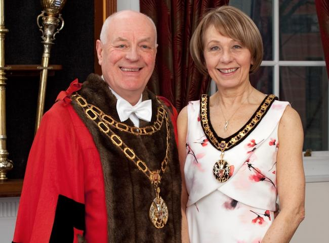 Councillor Jonathan Coupe with his Mayoress wife Diane