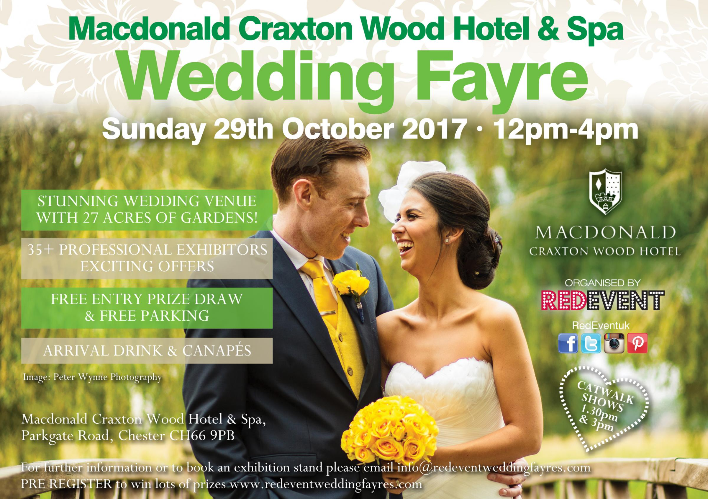 Wedding Fayre at Macdonald Craxton Wood Hotel & Spa
