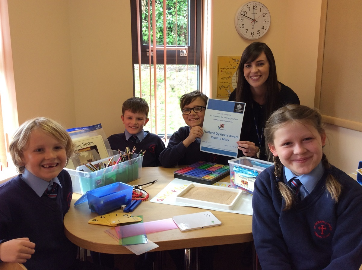 Teacher Eileen Butler with members of the pupil learning committee Barney Magher ( 7) Ted Talbot ( 9) Rory Kilburn (7) and Charlotte Magher (9)