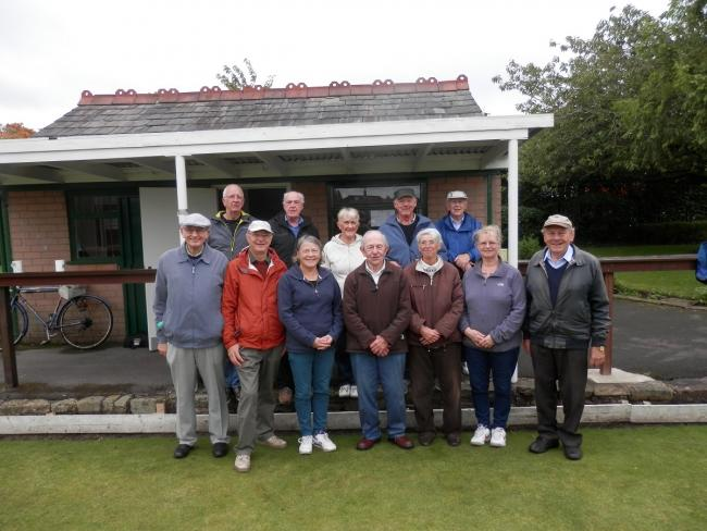 shows Giuilio (centre of front row) with bowling friends on his last day at Riddings on October 1