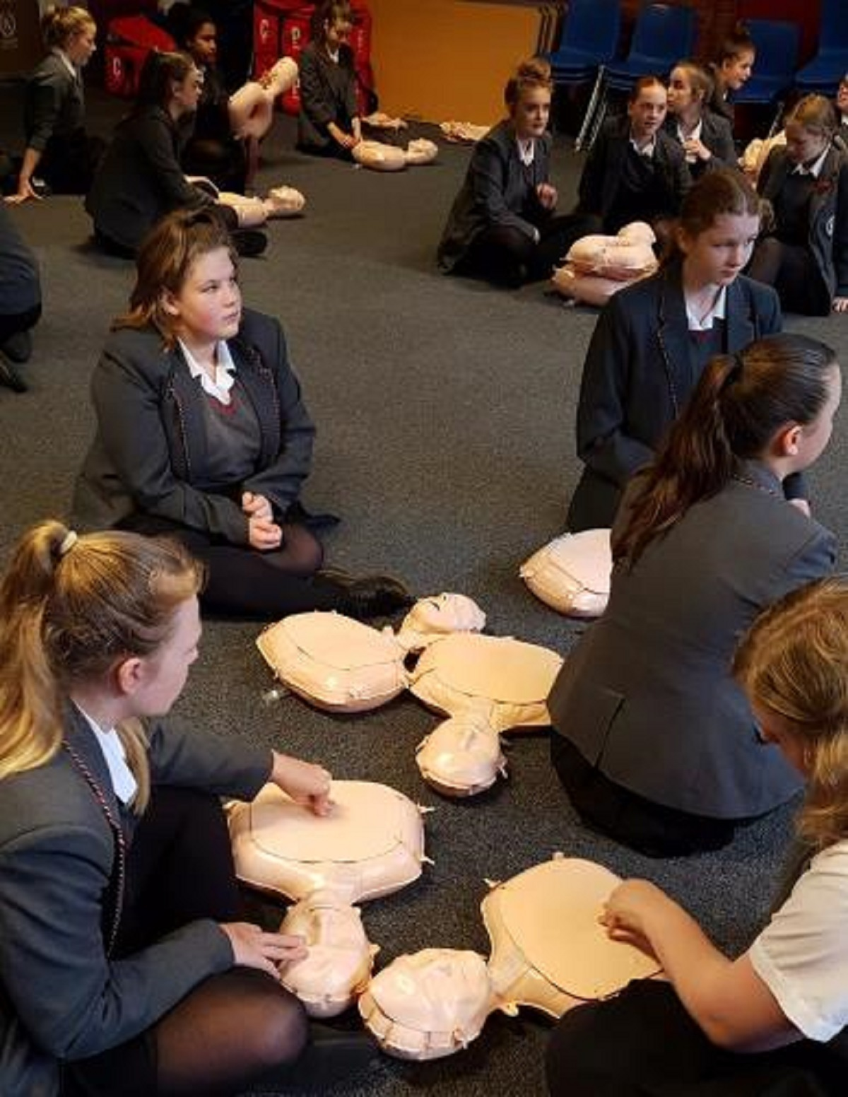 Students at Flixton Girls School take part in Restart a Heart Day