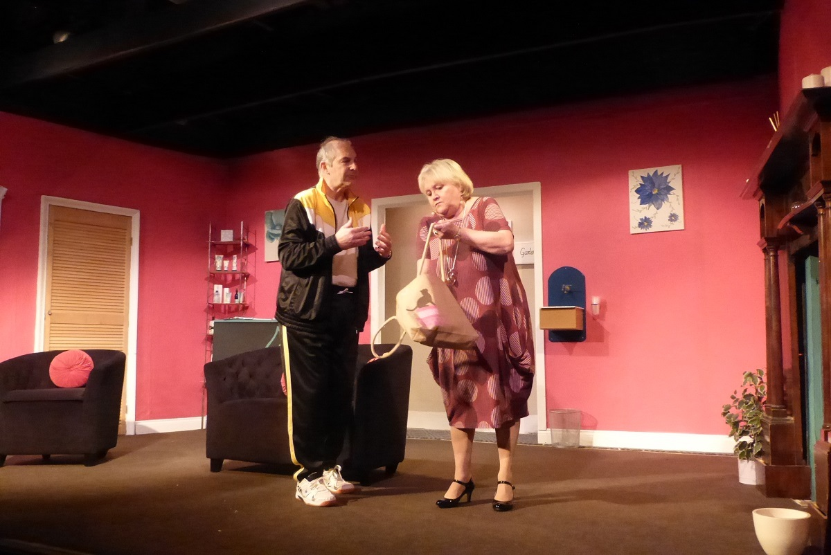 the Canterbury Players presented Dave Freeman's farce Kindly keep it Covered