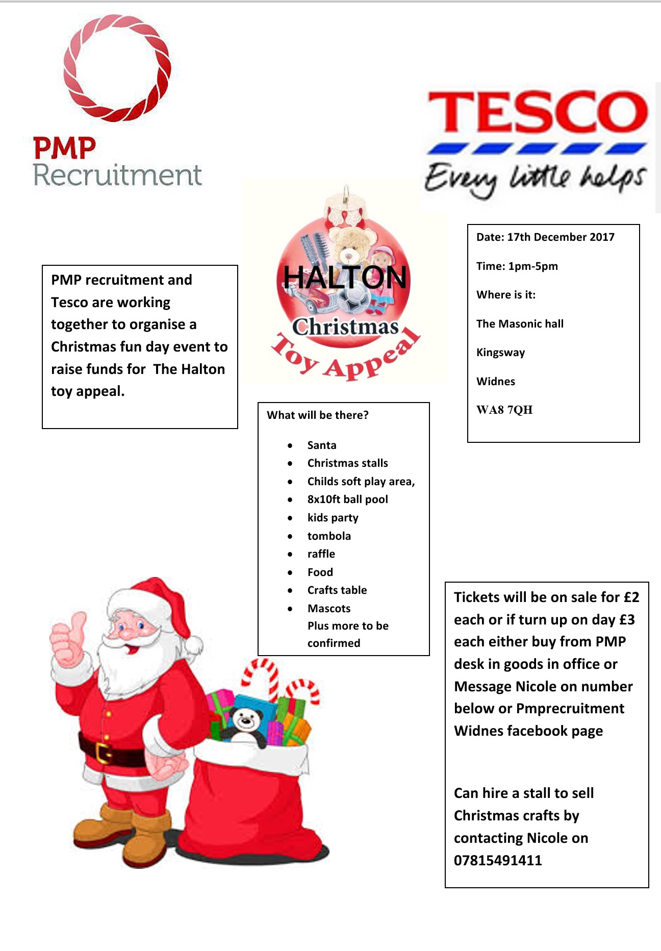Tesco Xmas funday and pmp recruitment invite you all to there special funday