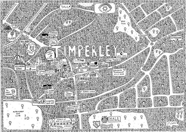 Timperley Doodle Map