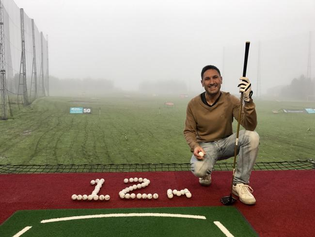 Jeremy Hinds hits 12 millionth ball at TGC.JPG