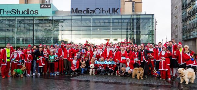 PHMG staff from the Manchester office following their successful Santa Dash