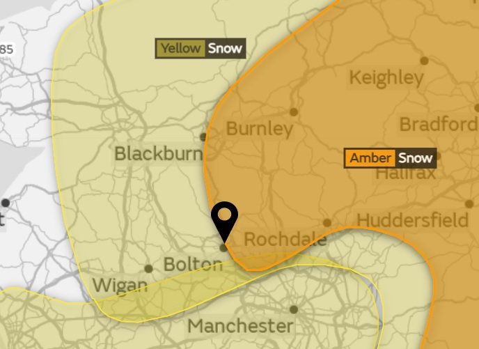 Snow likely tomorrow as Met Office issues severe weather warnings. Picture: Met Office