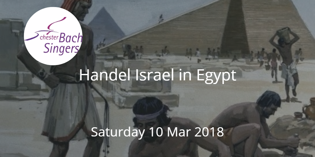 Handel Israel in Egypt by Chester Bach Singers