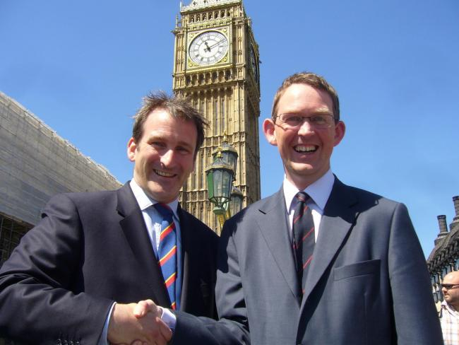 Damian Hinds, right and Paul Maynard, left