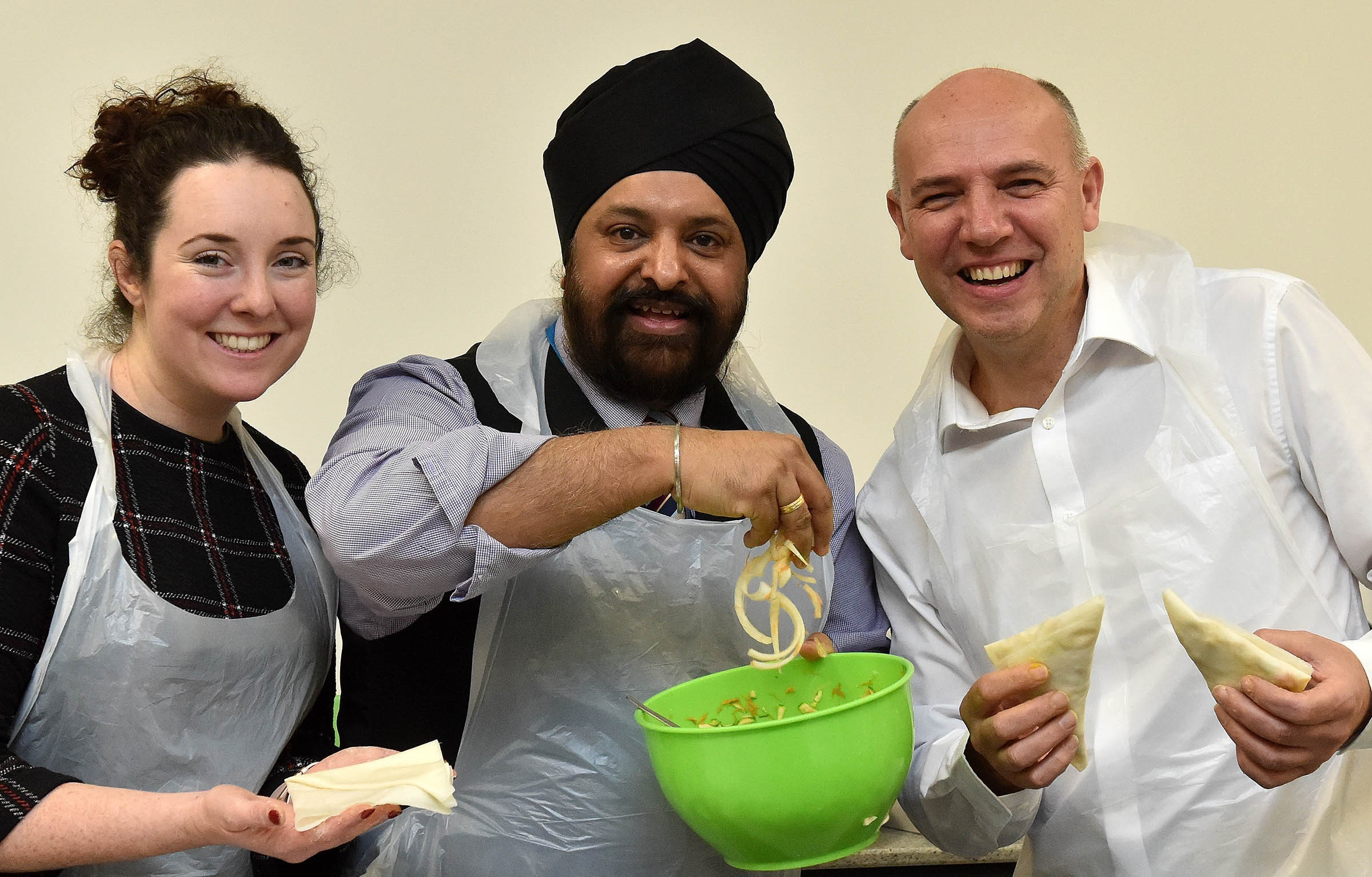 Amy Drogan, Manjeet Singh and Andy Chapman