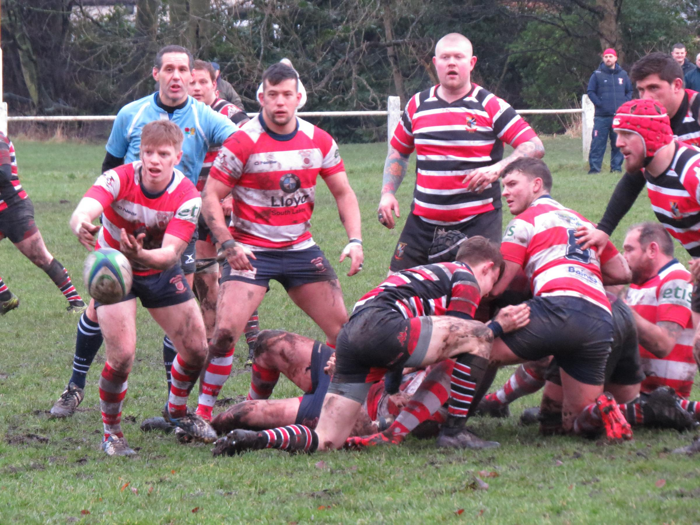 Action from Kersal's first XV game against Vale of Lune