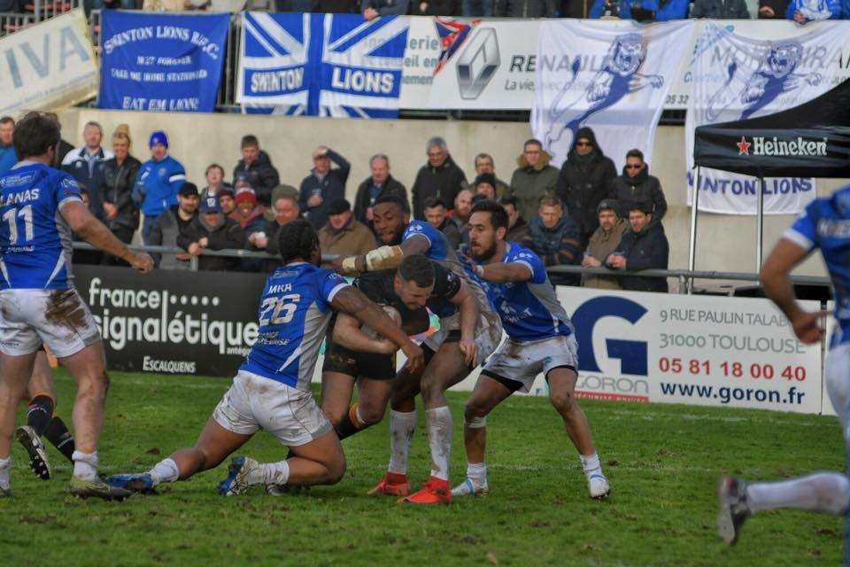 Action from Swinton Lions' trip to Toulouse. Picture by Pete Green