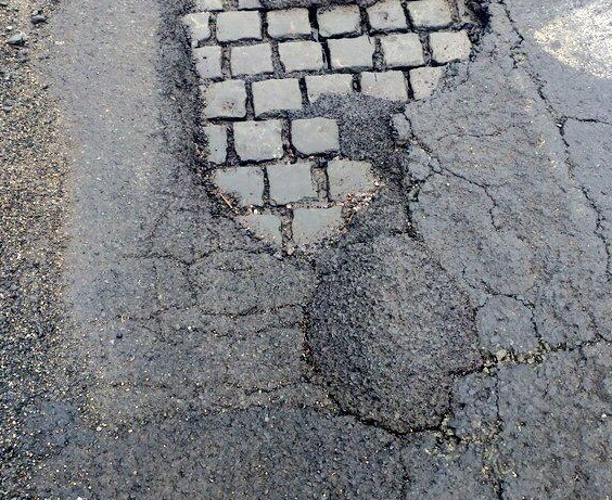 Potholes are a major talking point in Trafford. Picture: Darren Marsden