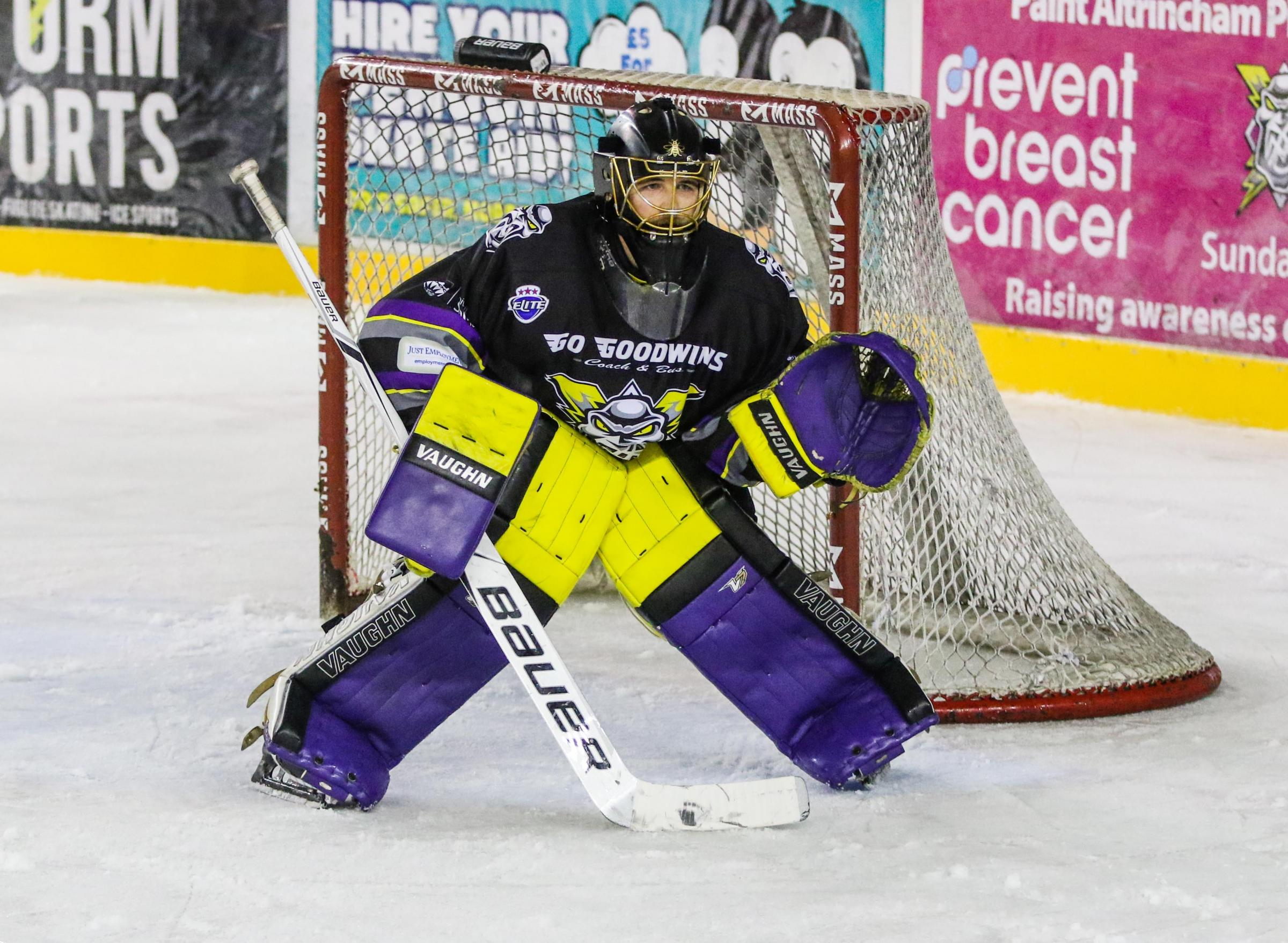 Storm netminder Mike Clemente