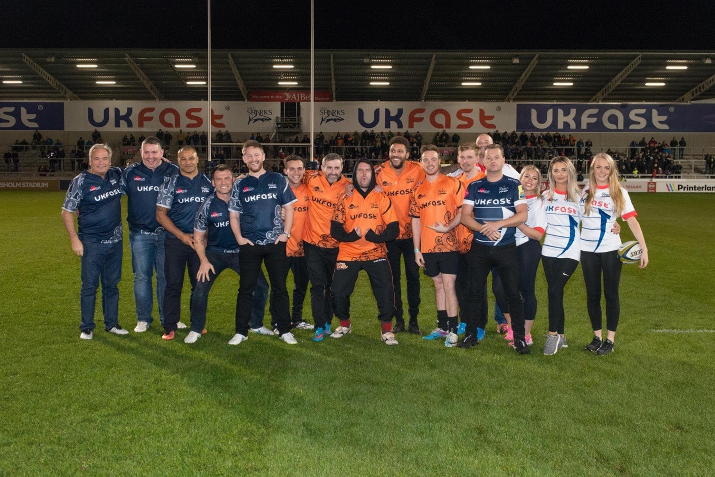 Sale Sharks have raised £15,000 for the Once Upon a Smile bereavement charity