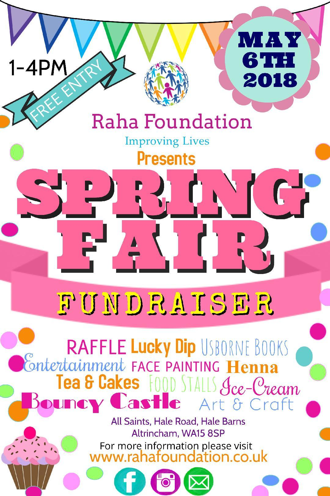 The Raha Foundation spring fair