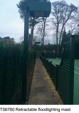 Proposed floodlights at Bowdon Tennis Club