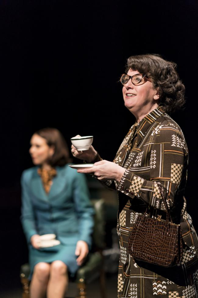 Natalie Grady as Ann Taylor and on the right, Louise Ludgate as the Member for Coventry South West