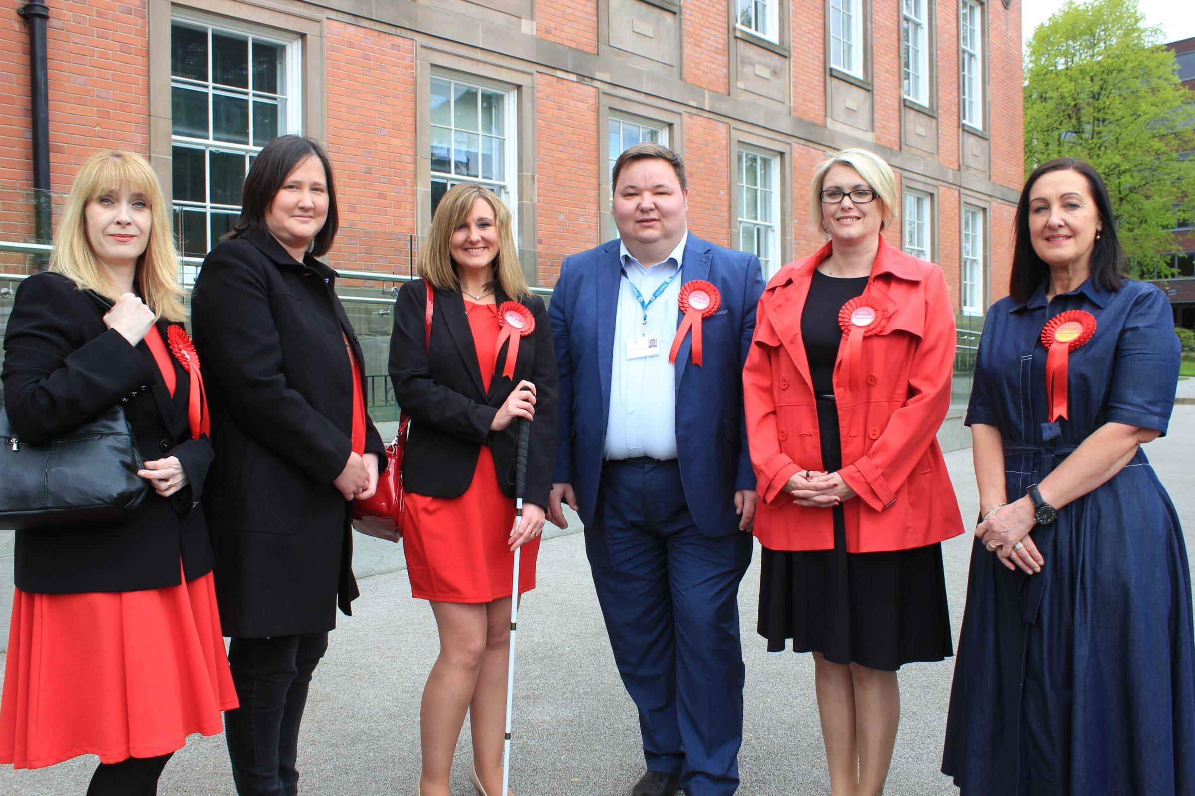 Trafford Labour leader Cllr Andrew Western with party members