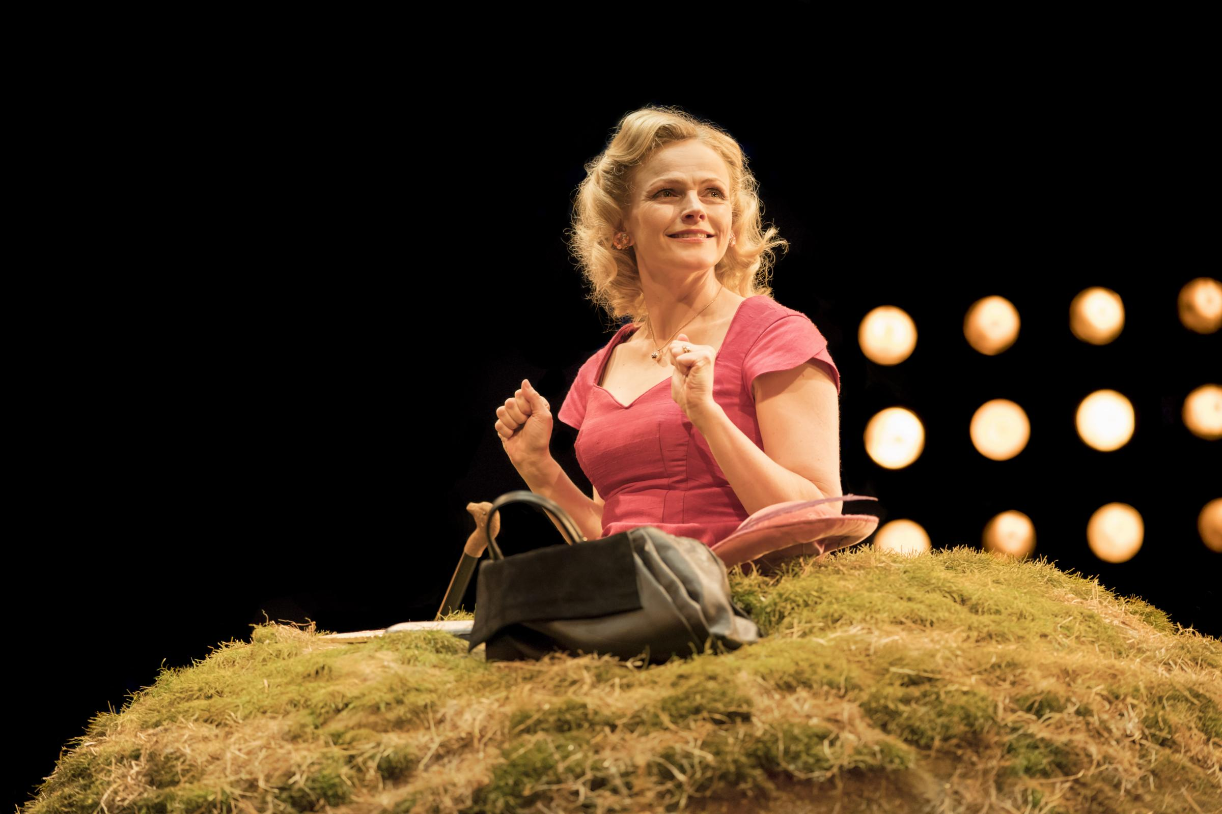 Maxine Peake stars in Samuel Beckett's Happy Days, directed by Sarah Frankcom, at the Royal Exchange Theatre - Pic: Johan Persson