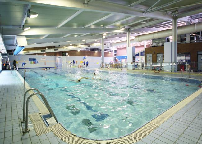 The pool at Urmston Leisure Centre. The centre could benefit from a £2,113,000 boost if proposals go ahead.