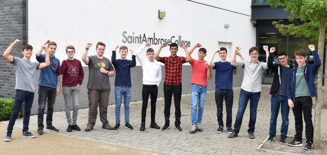 St Ambrose College is celebrating a year of stellar GCSE results.