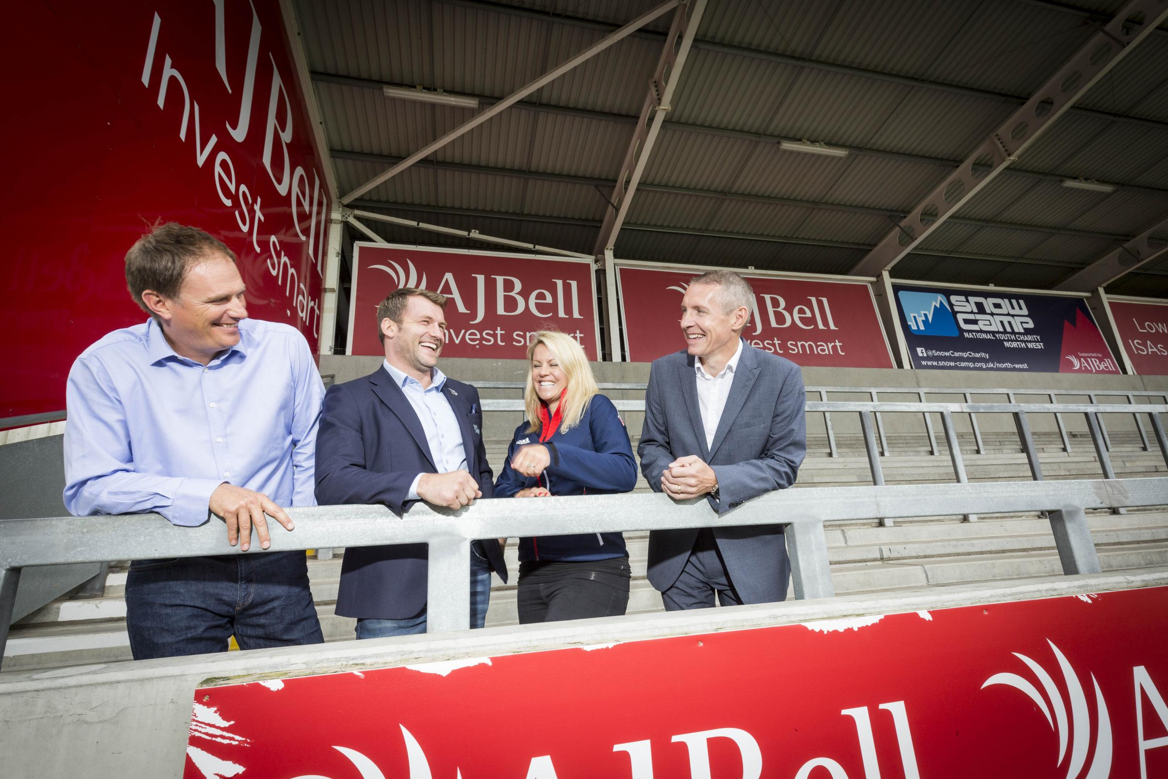 Sale Sharks have donated the naming rights of the North Stand at the AJ Bell Stadium to Snow-Camp.