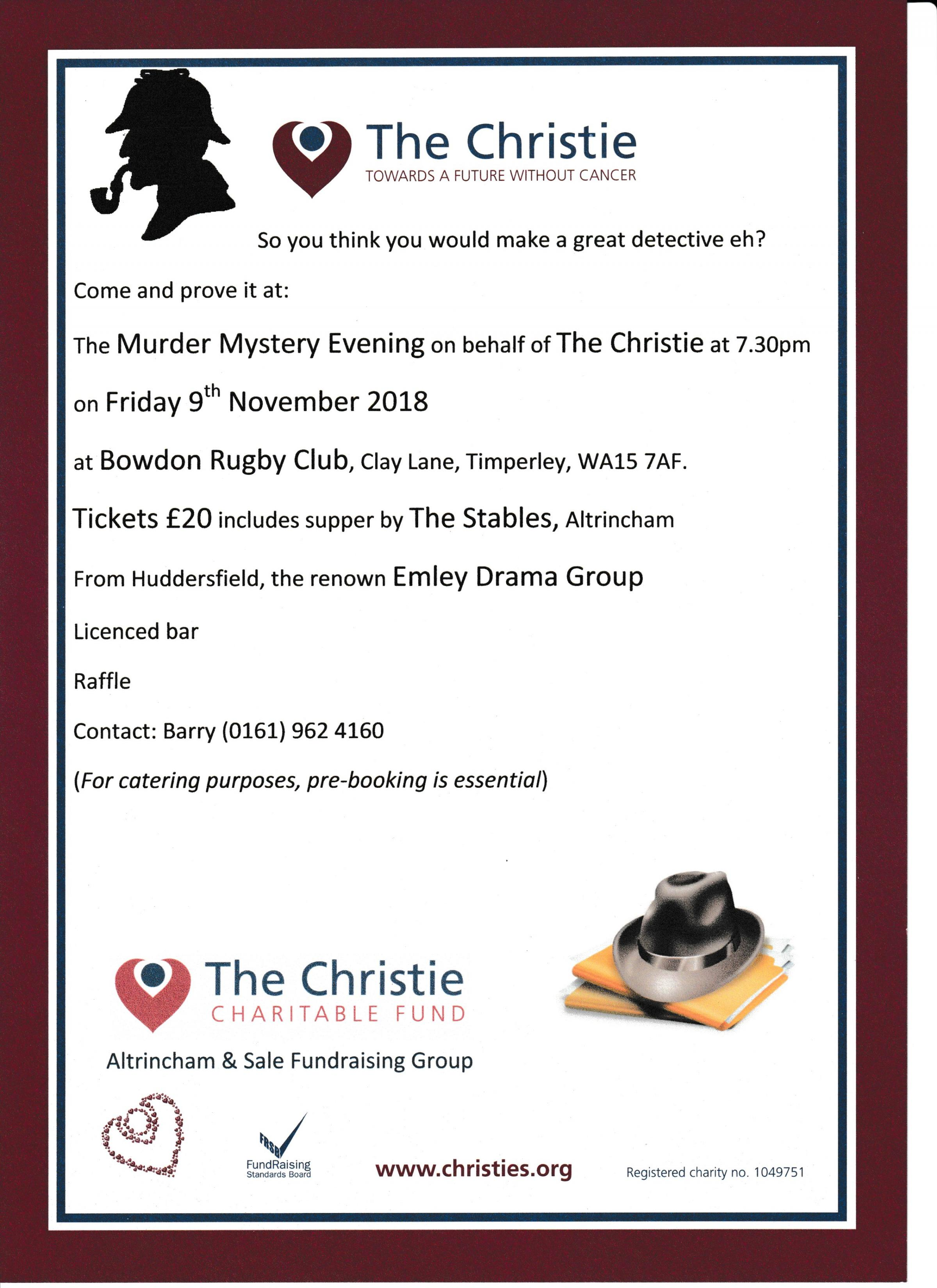 Murder Mystery Evening for The Christie