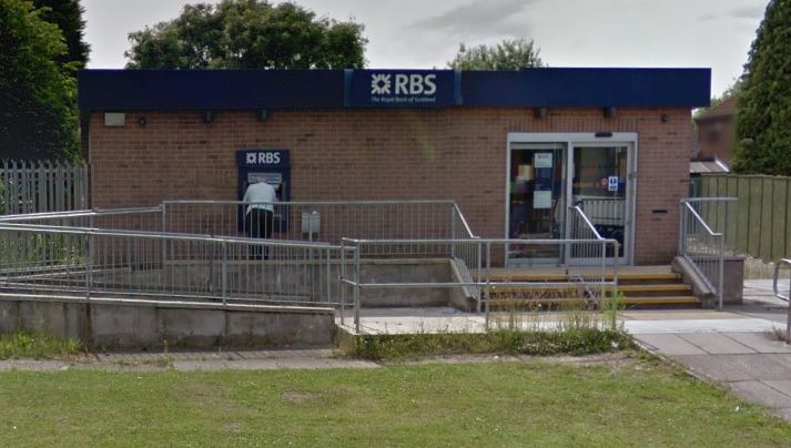 The RBS branch in Central Road, Partington is one of three branches in Trafford facing closure.