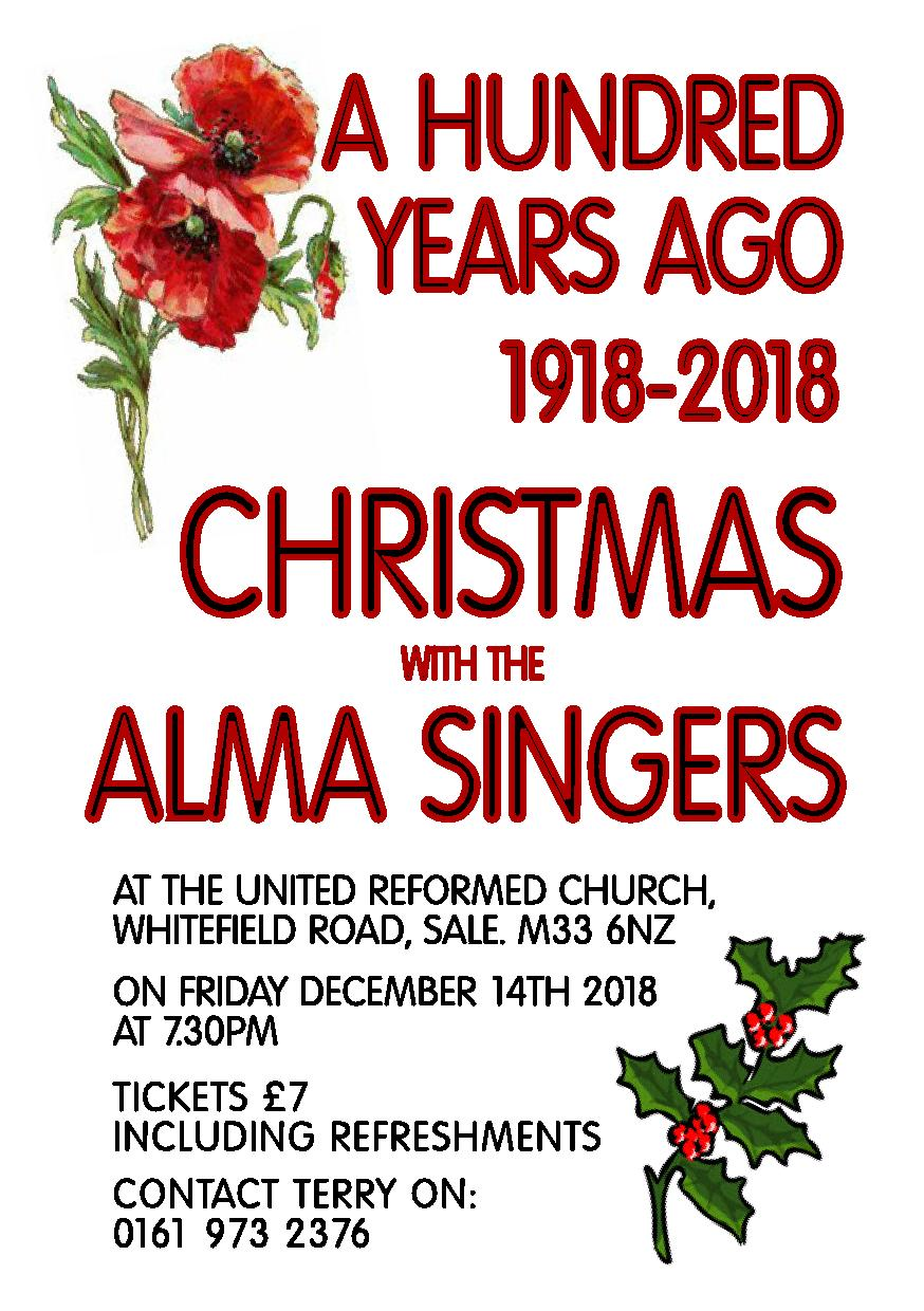 A Hundred Years Ago, 1918-2018, Christmas with the Alma Singers