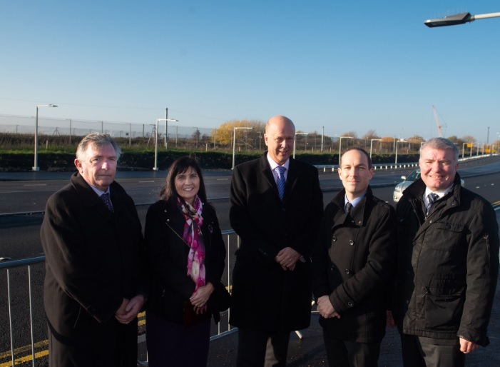 Chris Grayling at opening of airport relief road