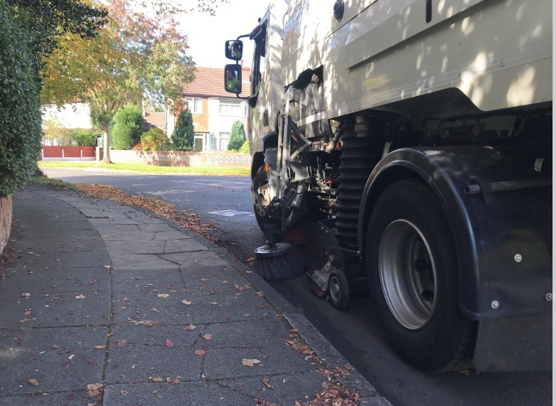 One of Trafford Council's leaf sweepers