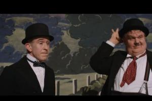 Steve Coogan and John C Reilly in scene from 'Stan & Ollie'