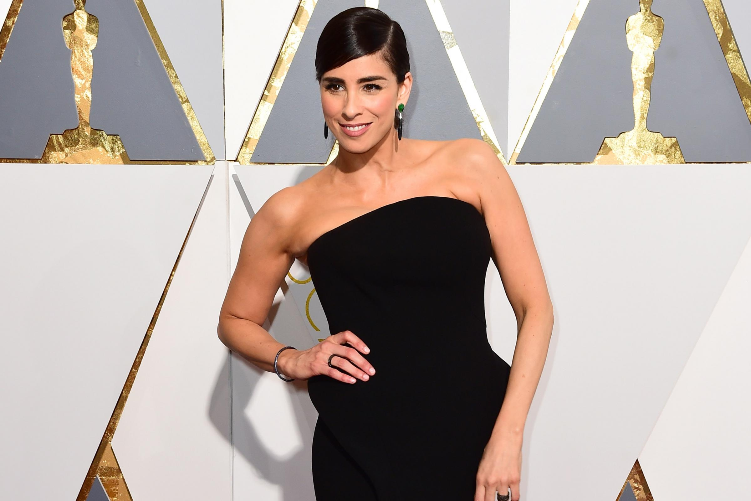 Sarah Silverman on the red carpet