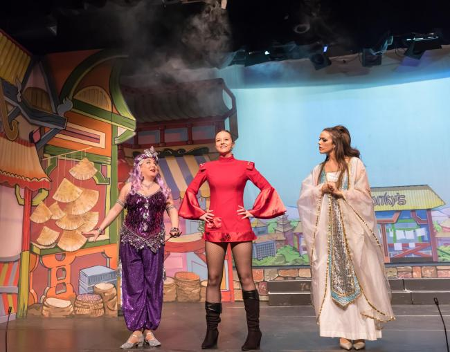 Jenny Hollinshead as Jennie, Genie of the Ring Angela Cooke as Aladdin Lucy Selina Mason as Sheherezade