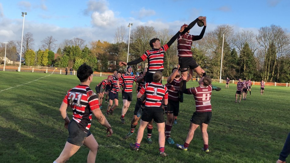 Action from Kersal's senior colts' victory over Newcastle (Staffs)