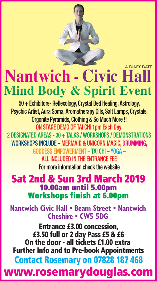 Nantwich Civic Hall - Mind Body Spirit Event