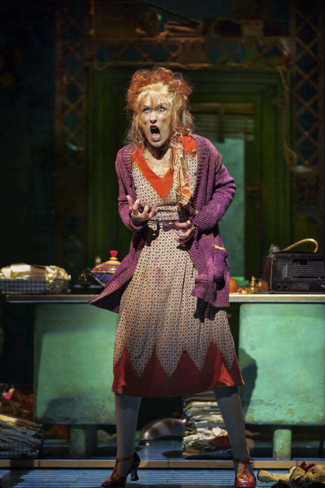 Anita Dobson as Miss Hannigan. Picture: Paul Coltas
