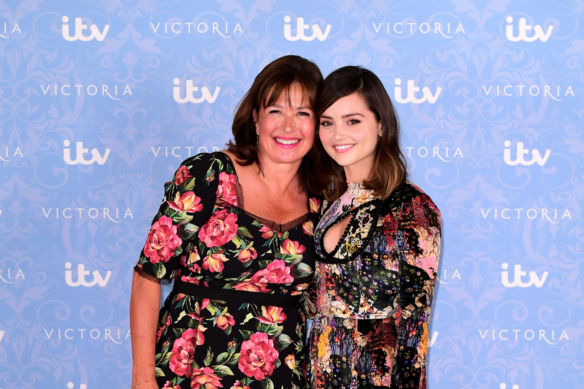 Daisy Goodwin with Jenna Coleman