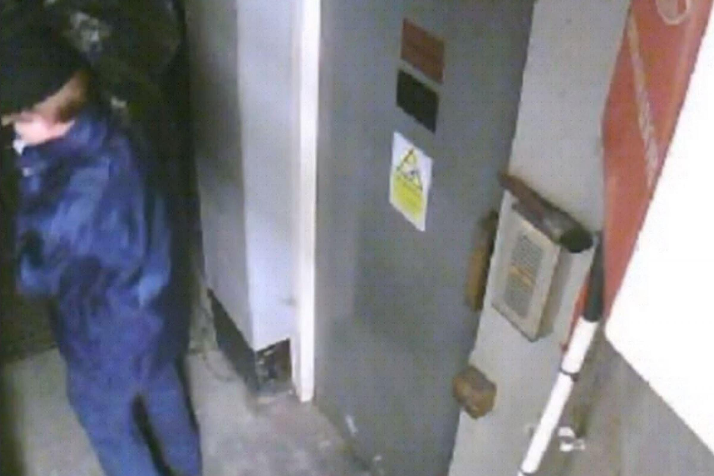 CCTV of Michael Seed, nicknamed Basil, carrying a black binbag during the Hatton Garden raid (Met Police/PA)