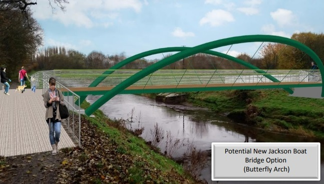 How the new Jackson Boat Bridge could look. Picture: Trafford Council