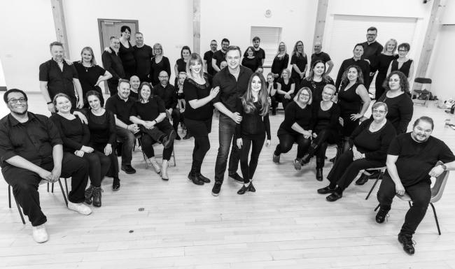 The cast of Sale and Altrincham Musical Theatre's Jekyll  & Hyde, the Musical