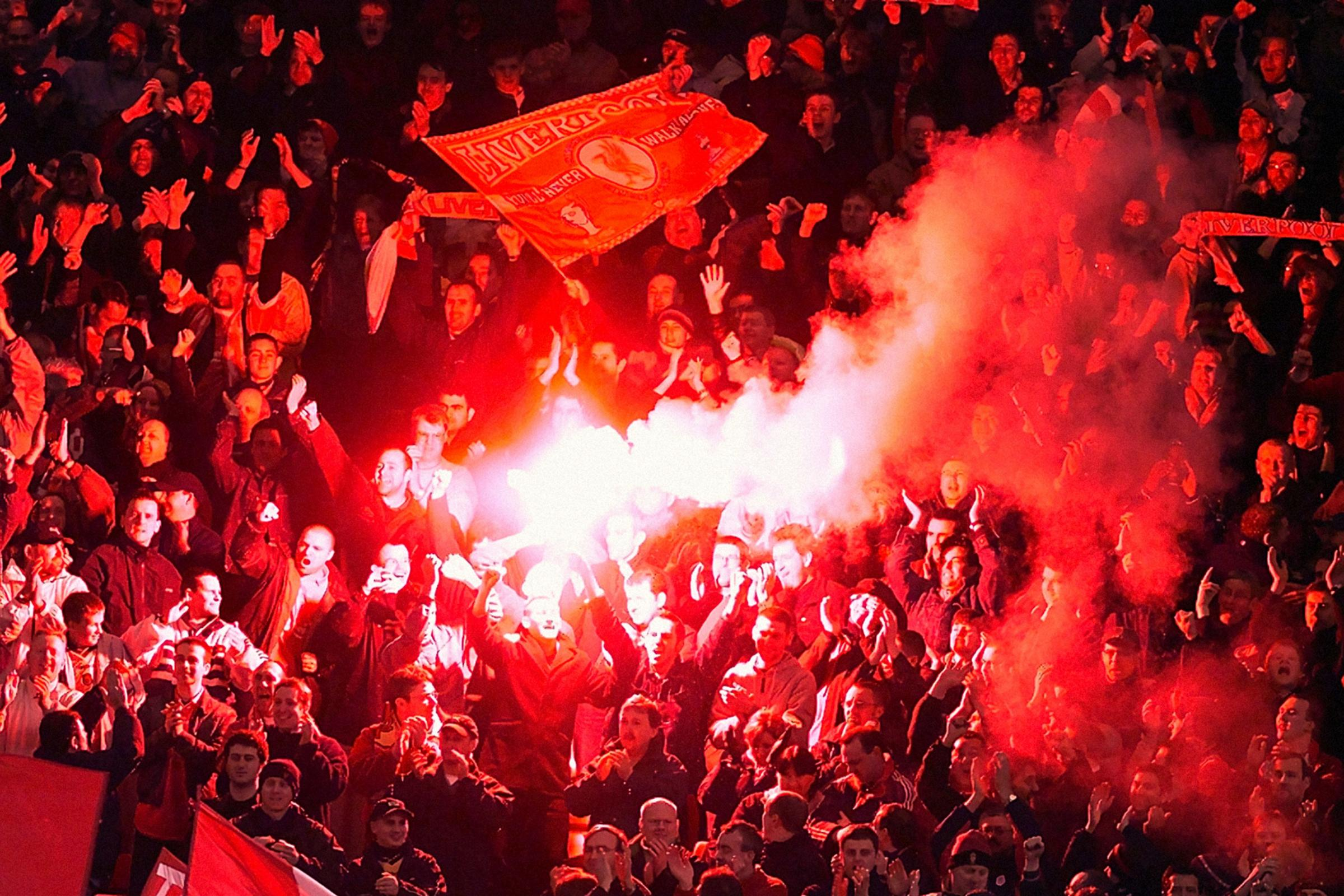 Merseyside Police are investigating after a flare was thrown during Liverpool's win over Chelsea at Anfield